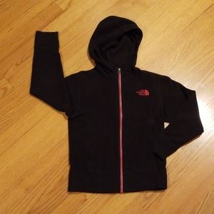 The North Face Black Hooded Fleece Size S (7/8)